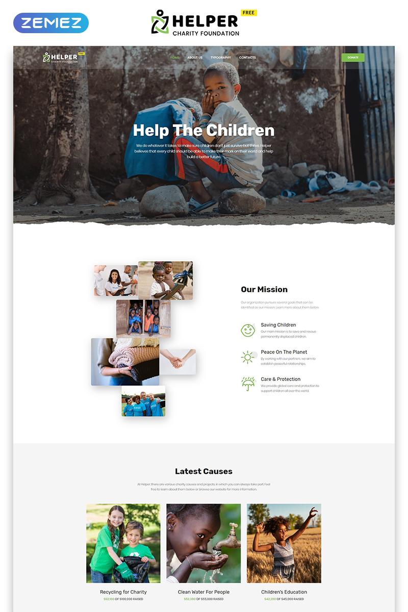 """Free HTML5 Theme for Social Organization"" Responsive Website template №51679 - screenshot"