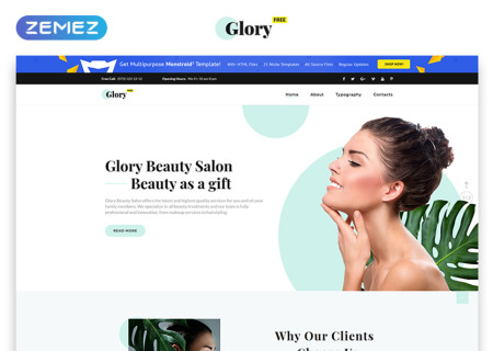 Free HTML5  for Spa Salon