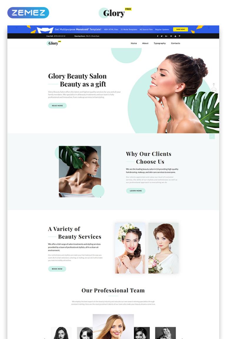 Free Html5 Theme For Spa Salon