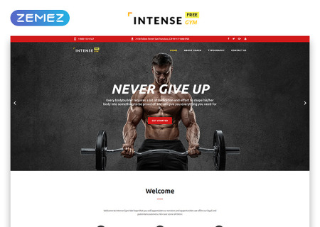 Free HTML5  for Sport Site