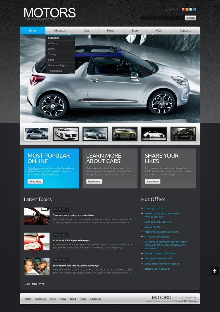 Free Joomla Car Template Joomla Template New Screenshots BIG