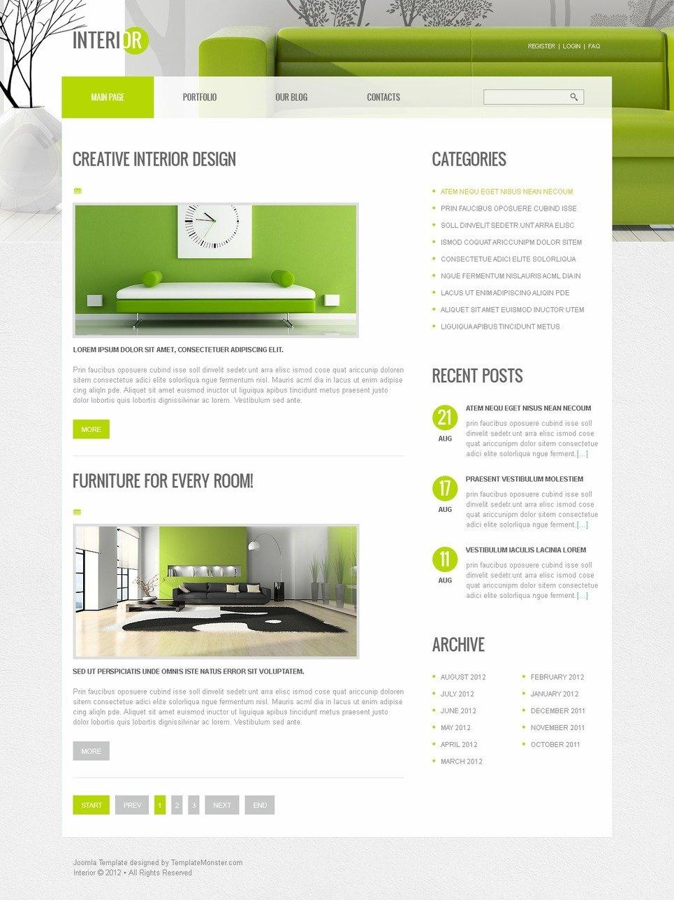 Free Joomla Interior Template New Screenshots