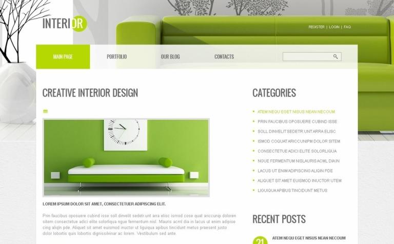 free joomla interior template