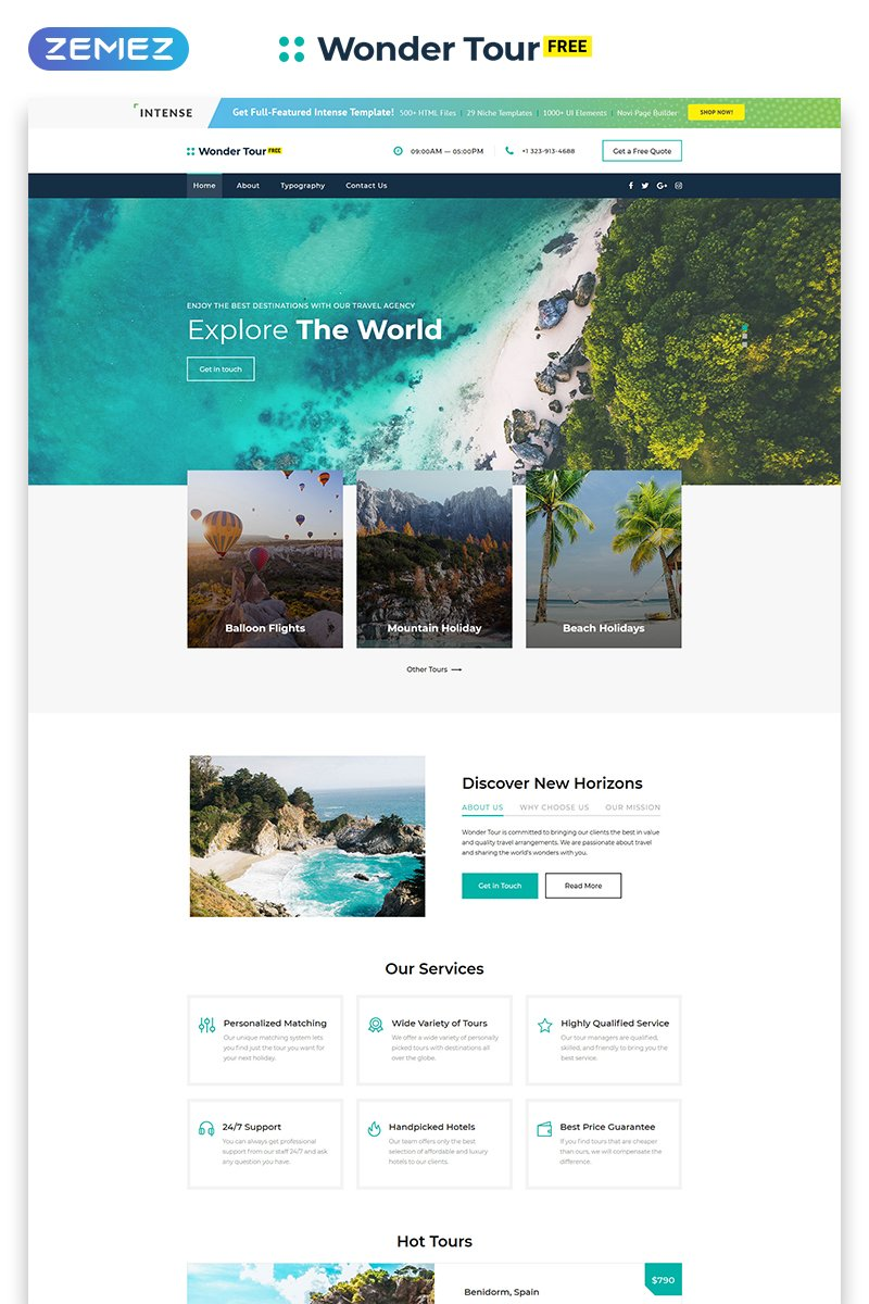 Free jQuery Travel Theme