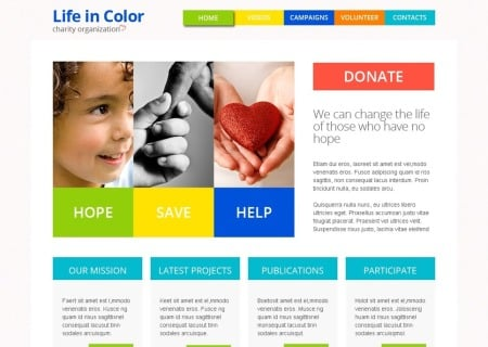 Free Responsive HTML5  for Charity Site
