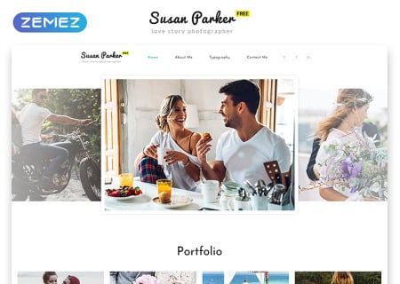 Free Responsive HTML5  for Photo Site