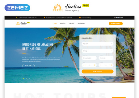 Free Responsive HTML5  for Travel Agency