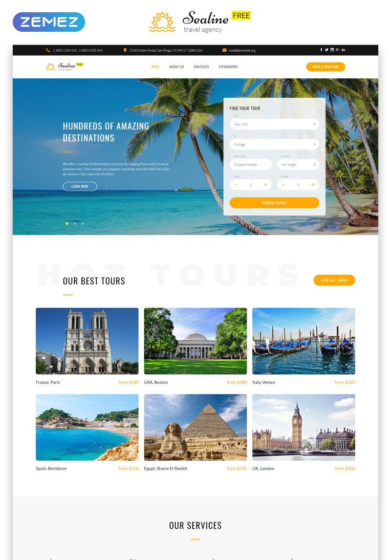 Travel Agency Website >> Free Responsive Html5 Theme For Travel Agency Website Template