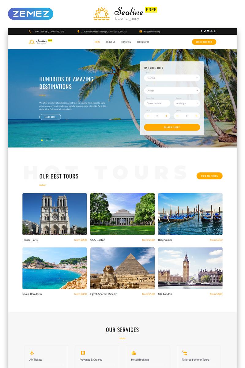 """Free Responsive HTML5 Theme for Travel Agency"" 响应式网页模板 #51676 - 截图"