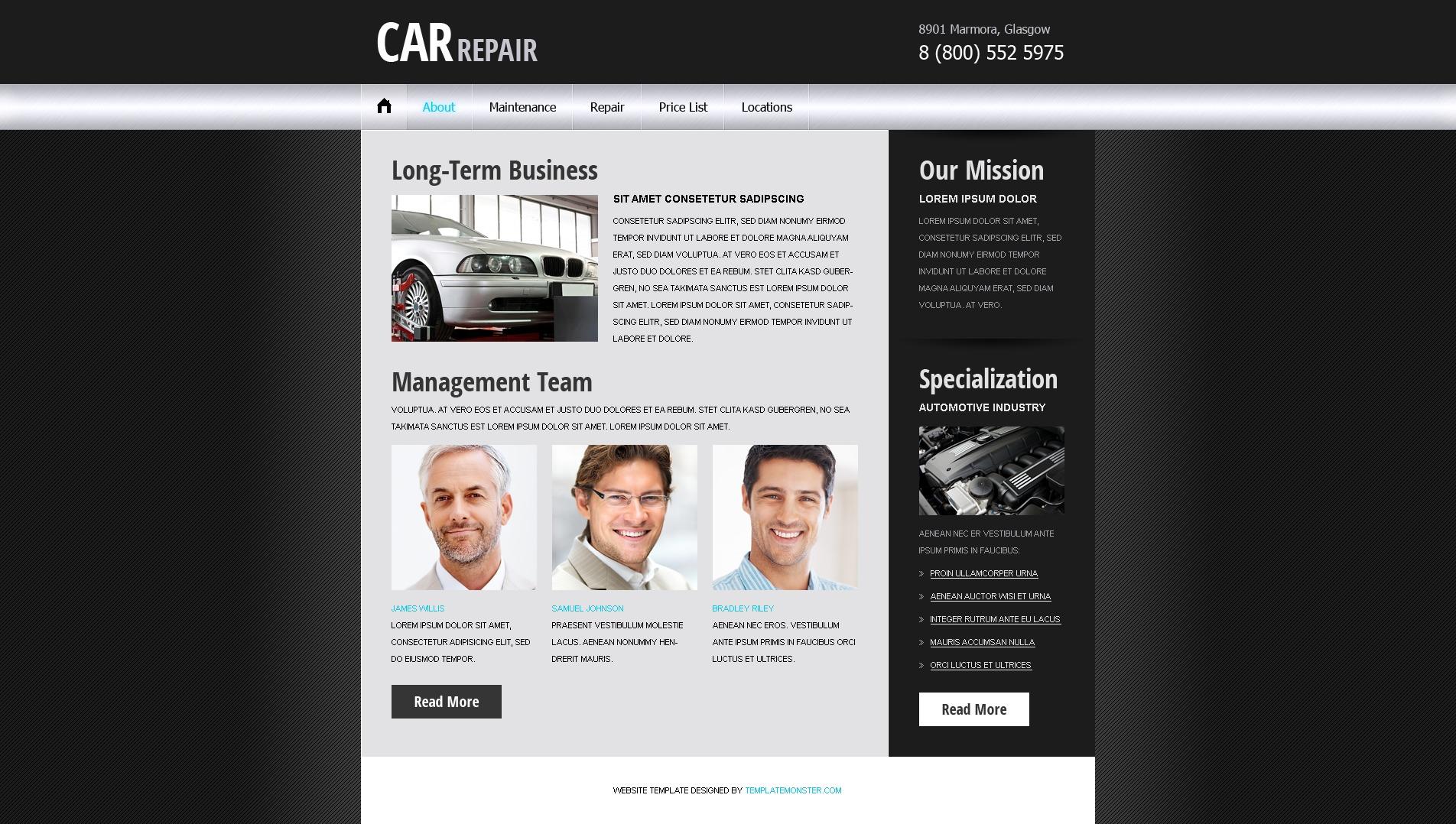 Free Website Template - Car/Auto Project