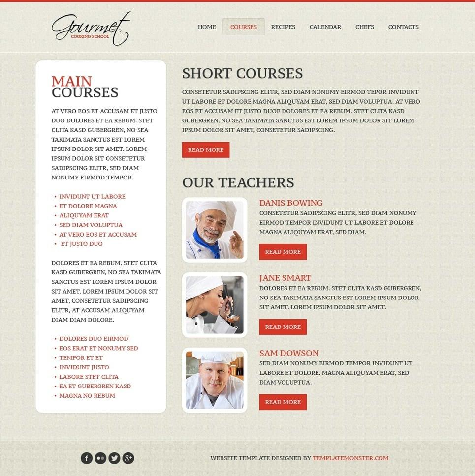 Free Website Template Cooking New Screenshots