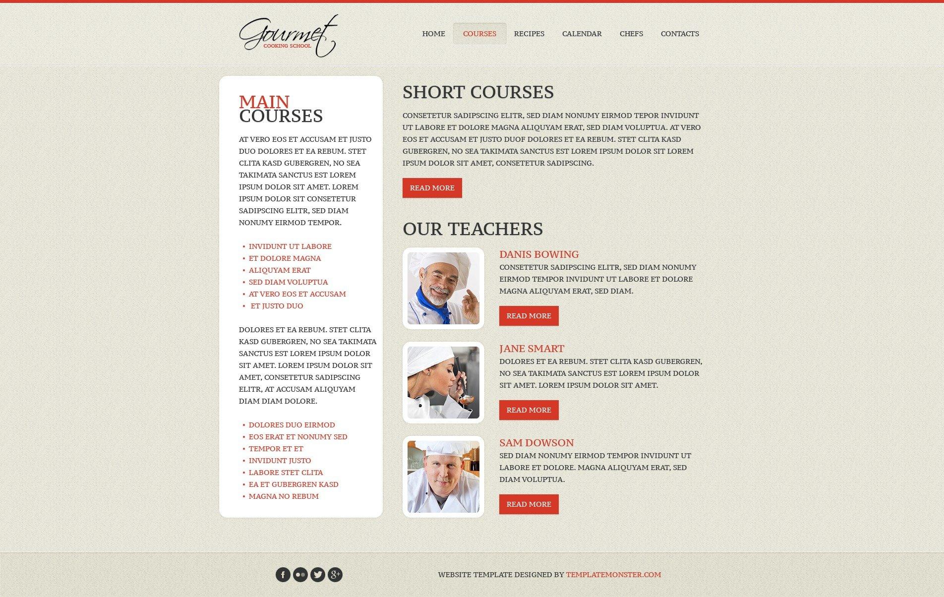 Free Website Template - Cooking Website Template - screenshot