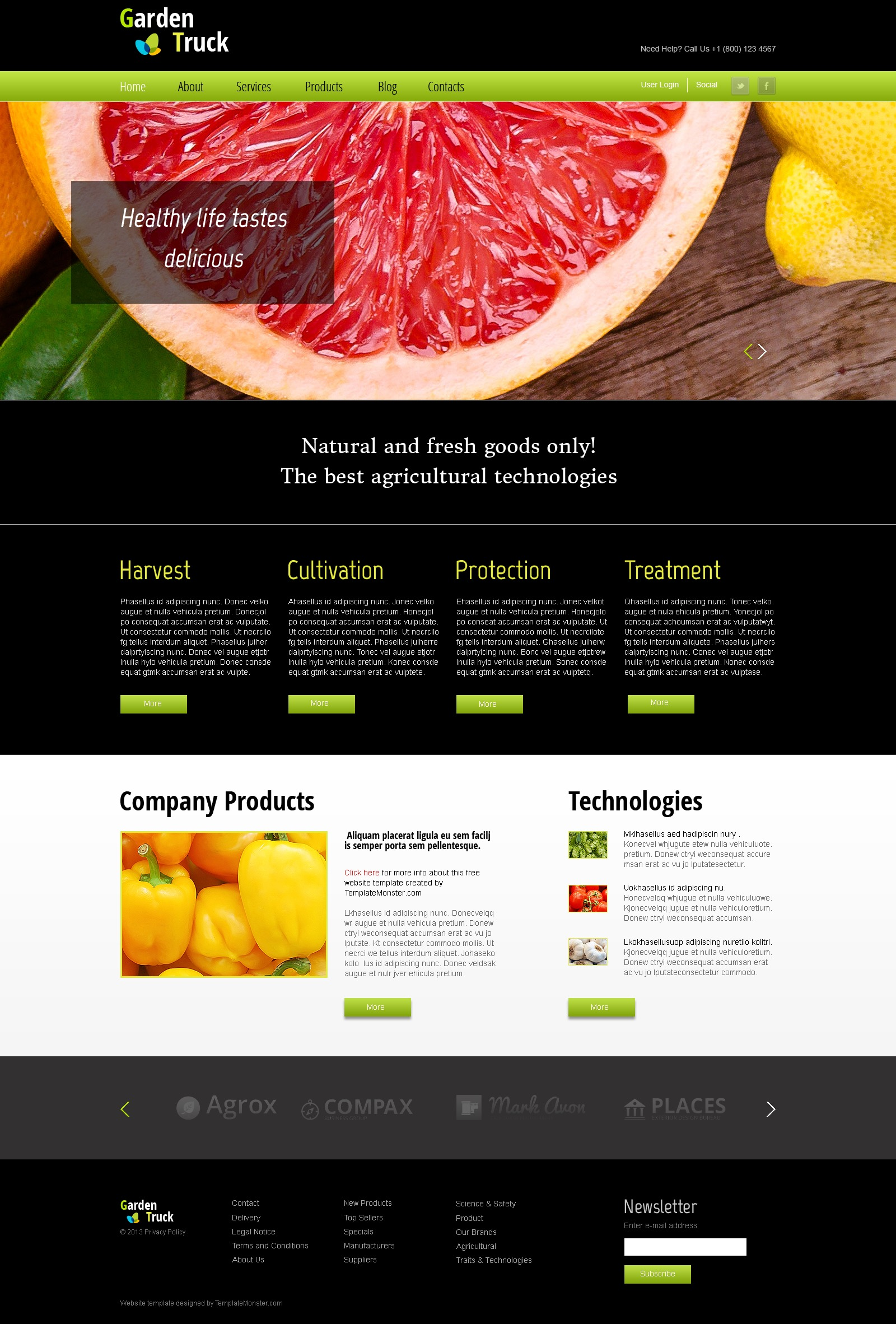 Free Website Template for Agriculture Site Website Template - screenshot