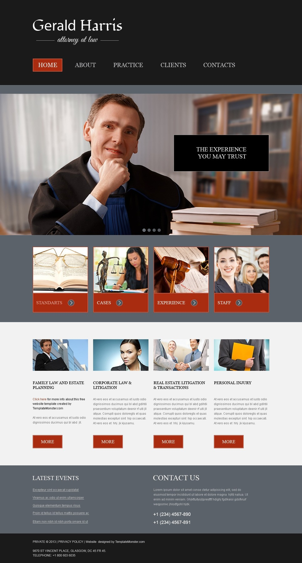 free website template law firm