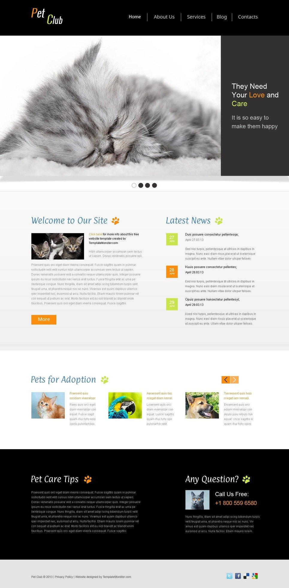 free website template pet site website template new screenshots big