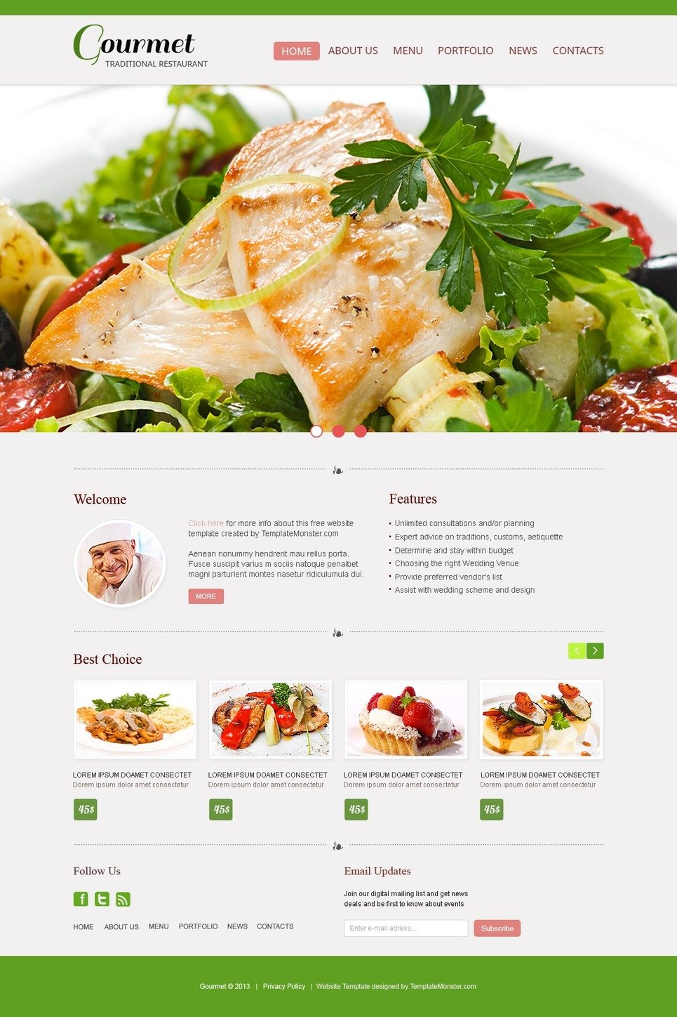 Free website template restaurant free website template restaurant website template new screenshots big pronofoot35fo Choice Image