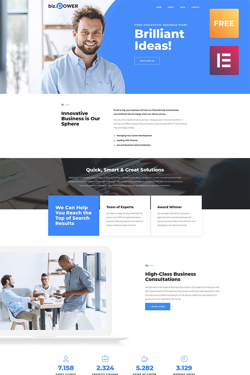 Free wordpress business theme free wordpress business theme wordpress theme new screenshots big friedricerecipe Gallery