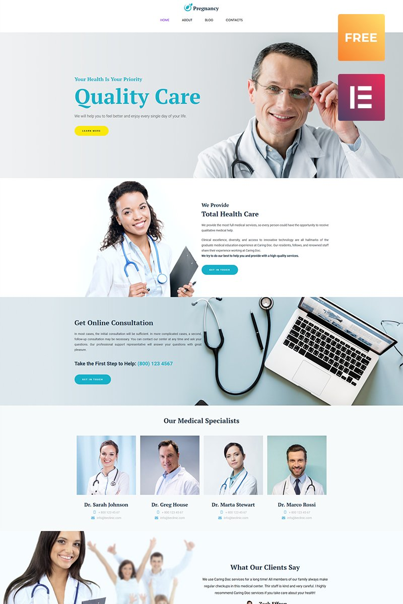 Free wordpress health theme free wordpress template wordpress theme new screenshots big spiritdancerdesigns Gallery