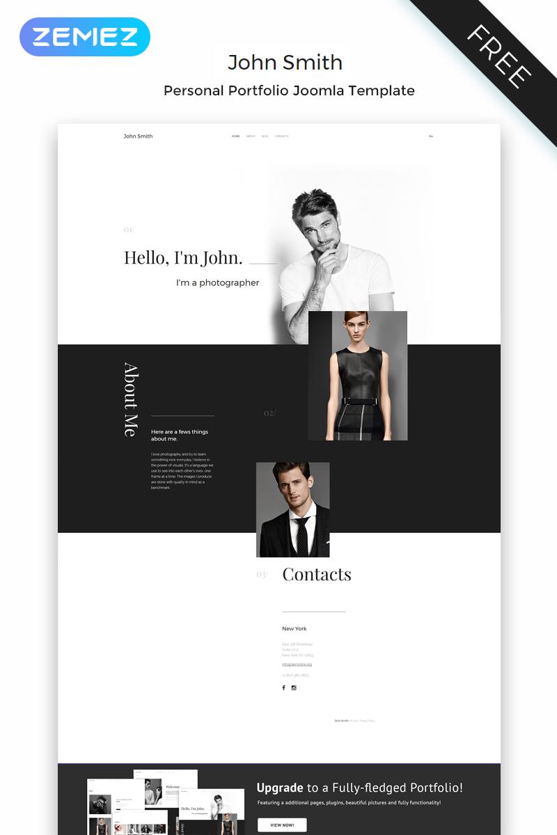 John Smith - Personal Page Elegant Joomla Template
