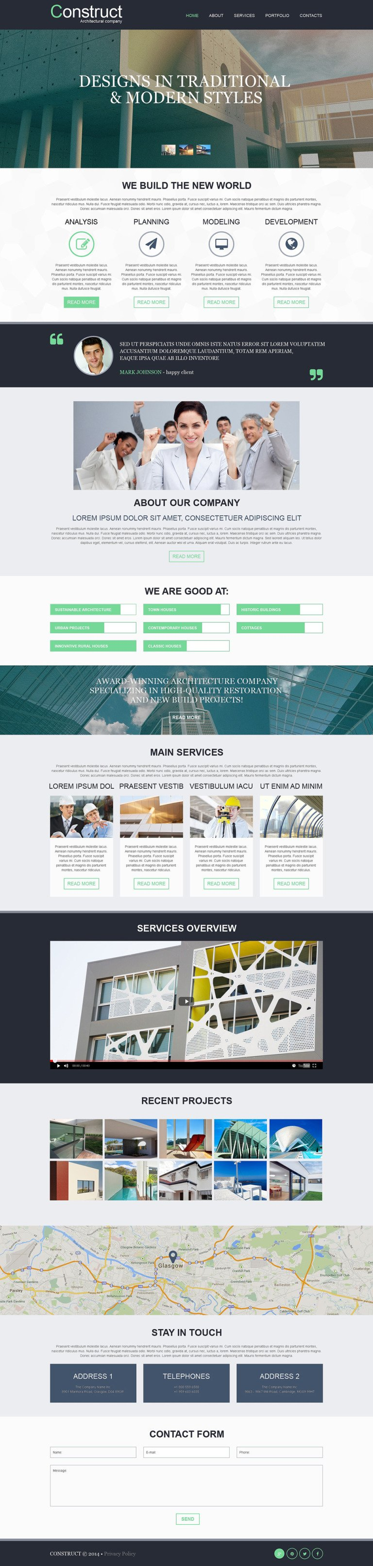 Muse Templates | Muse Template 51692 Fur Architektur