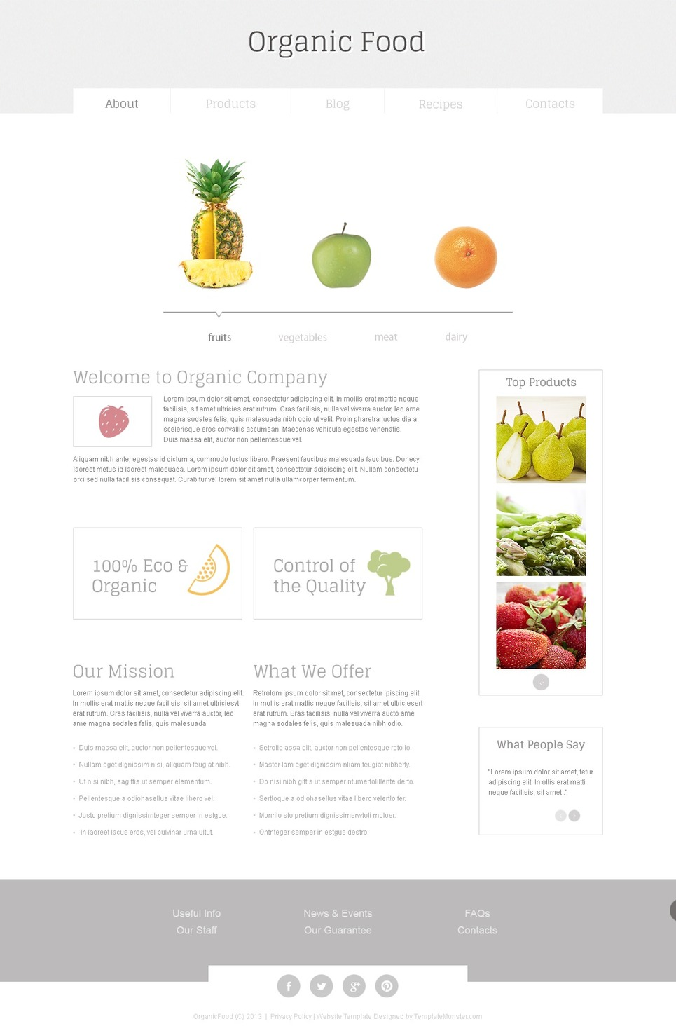 organic food free html5 template. Black Bedroom Furniture Sets. Home Design Ideas