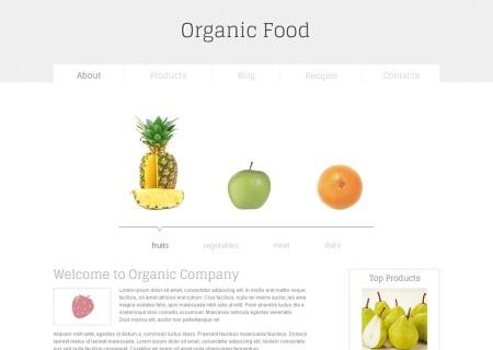 Organic Food Free HTML5