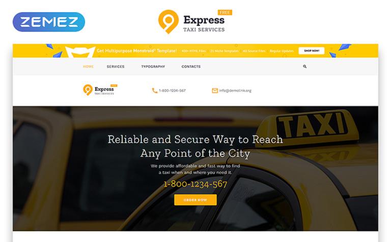Plantilla Web #51680 para Sitio de Taxi