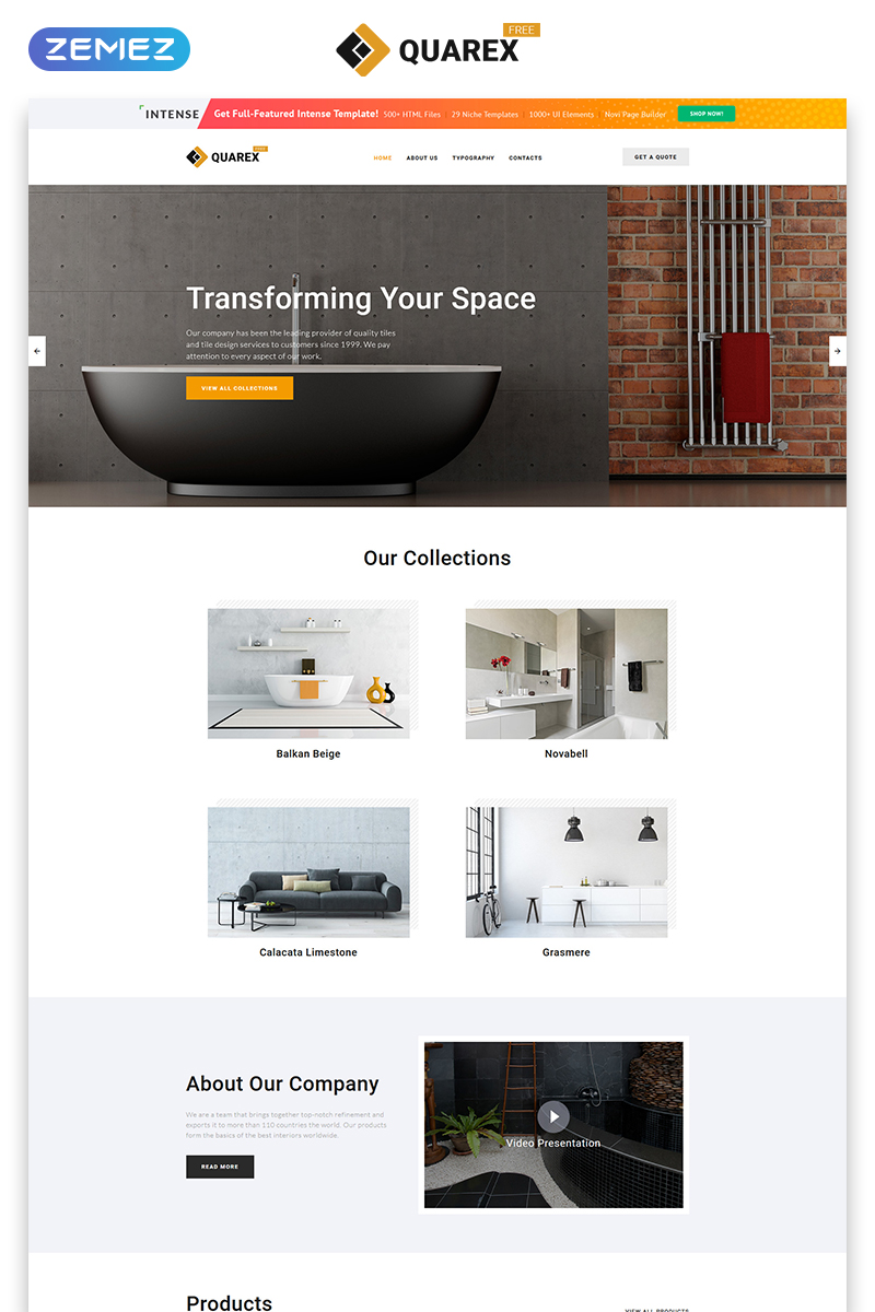 "Plantilla Web ""Plantilla HTML5 Gratis para Sitio de Interior"" #51678 - captura de pantalla"