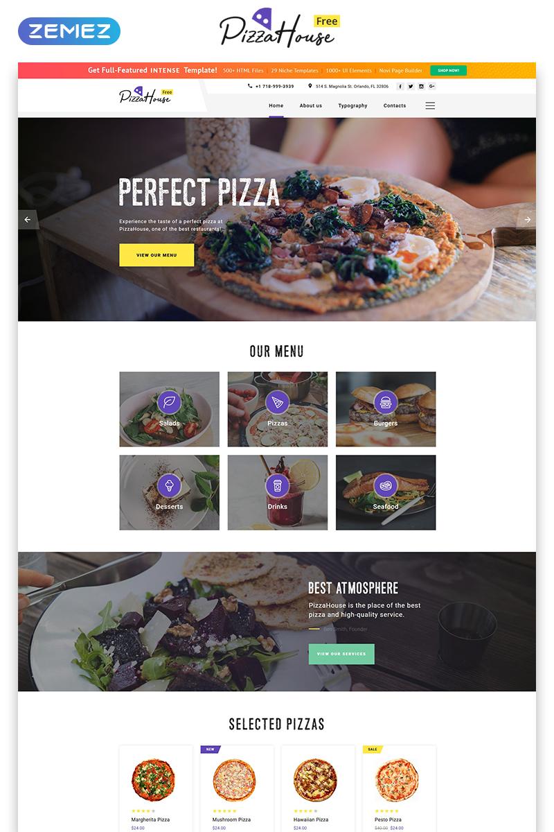 "Plantilla Web ""Plantilla HTML5 Gratis para Sitio de Restaurante"" #51689 - captura de pantalla"