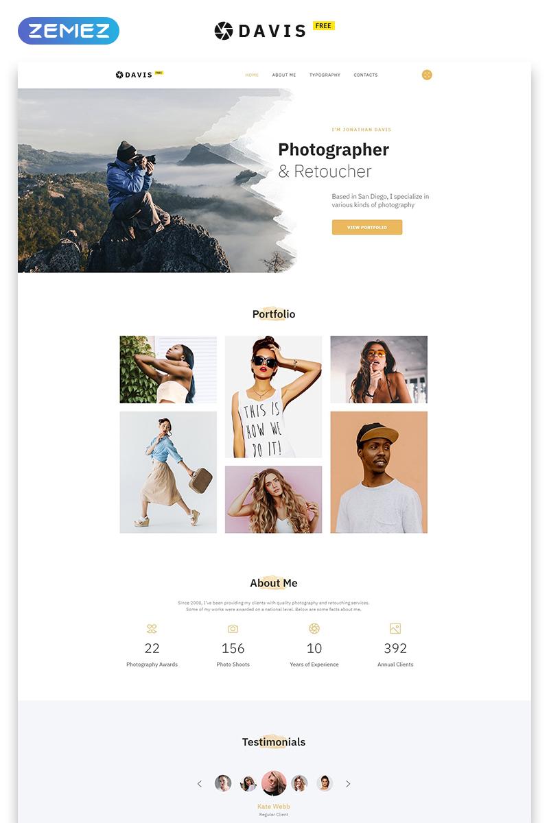 "Plantilla Web ""Tema HTML5 Gratis para Sitio de Fotografia"" #51684 - captura de pantalla"