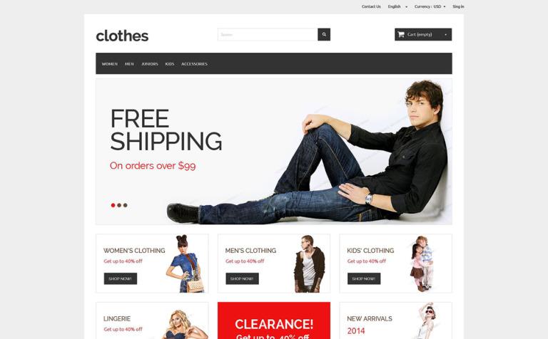 PrestaShop Theme #51683 für Mode-Shop