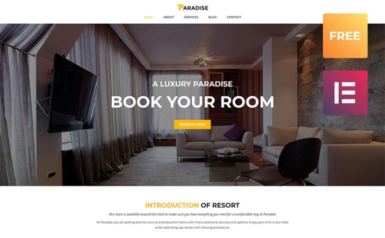 Tema de WordPress #51632 para Sitio de Hoteles