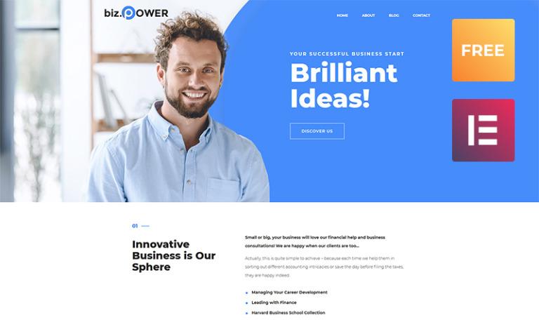 Tema de WordPress #51636 para Sitio de Negocio y Servicios