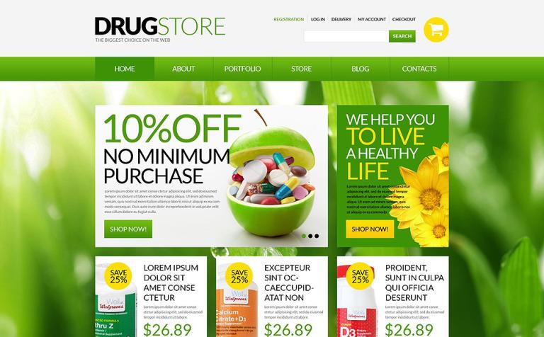Tema WooCommerce #51697 para Sitio de Farmacias