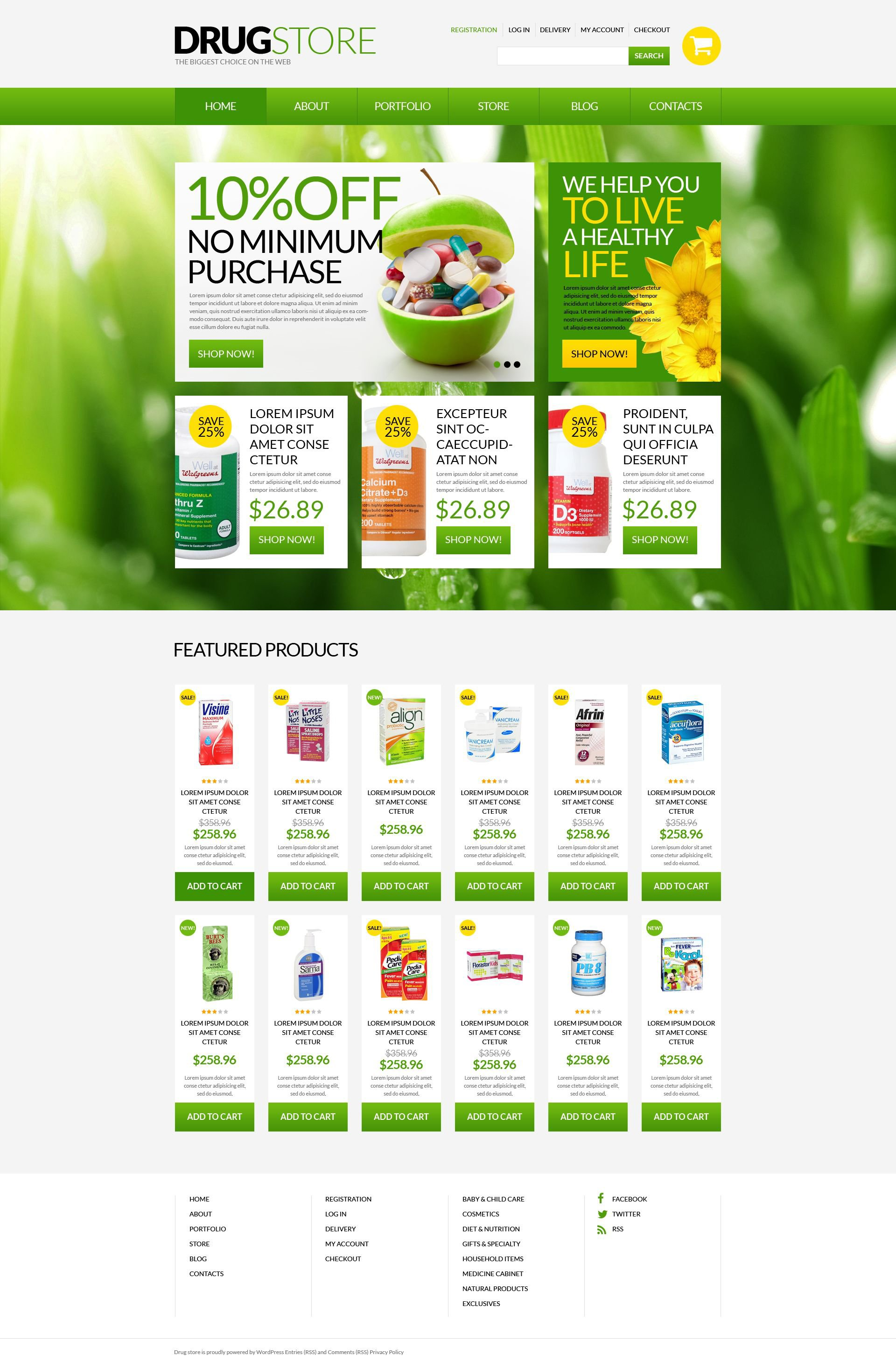 "Template WooCommerce Responsive #51697 ""Drugstore"""