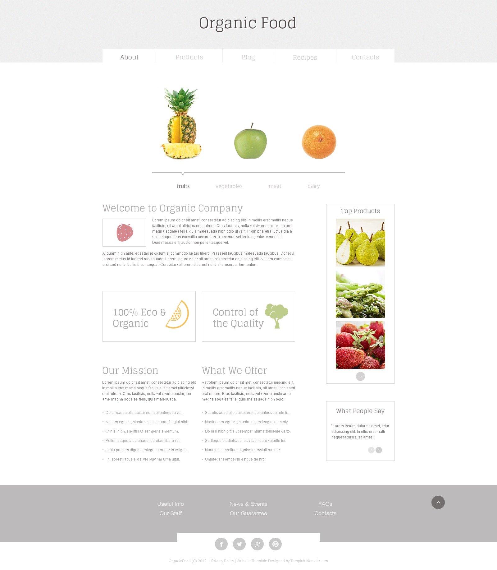 Website Vorlage #51664 für Fruit