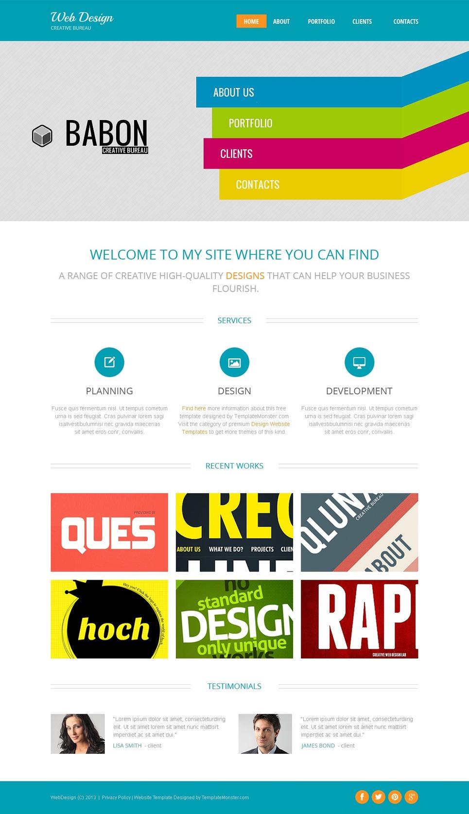 Website Vorlage #51663 für Designstudio