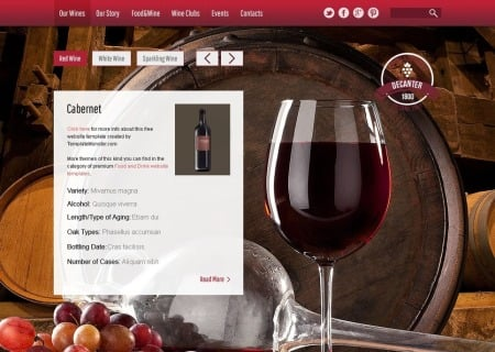 Wine & Winery Free HTML5