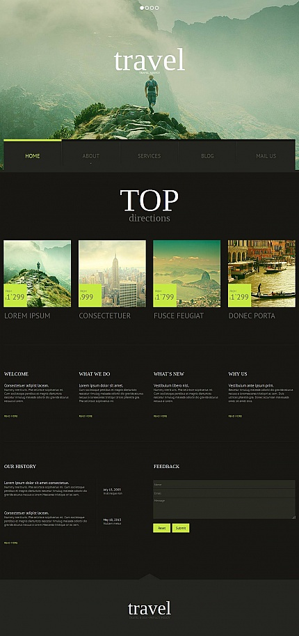ADOBE Photoshop Template 51701 Home Page Screenshot