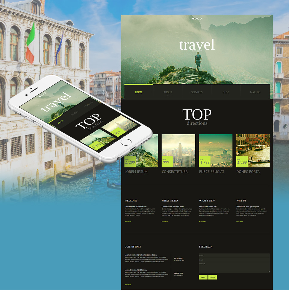 Template to Create a Travel Website - image