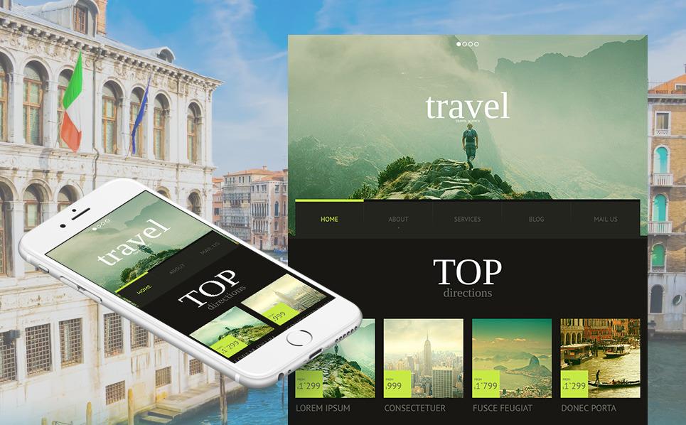 Modello Moto CMS HTML  #51701 per Un Sito di Agenzia di Viaggi New Screenshots BIG