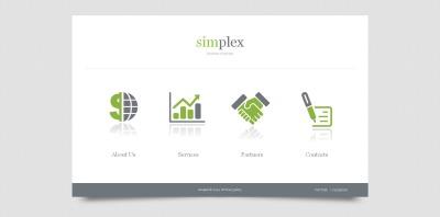 Företag & tjänster Moto CMS HTML-mall