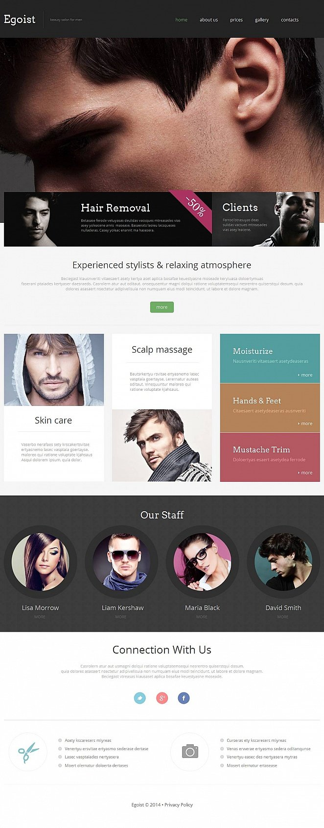Stylists and Barbers Website Template - image