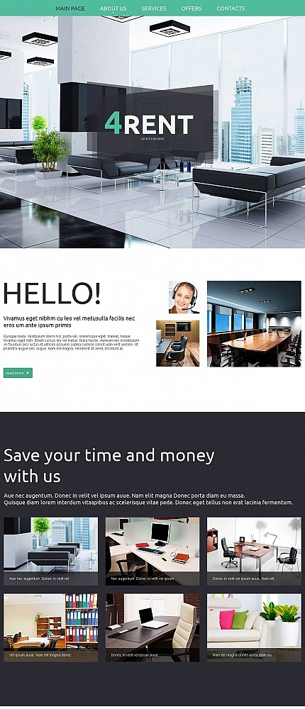ADOBE Photoshop Template 51705 Home Page Screenshot