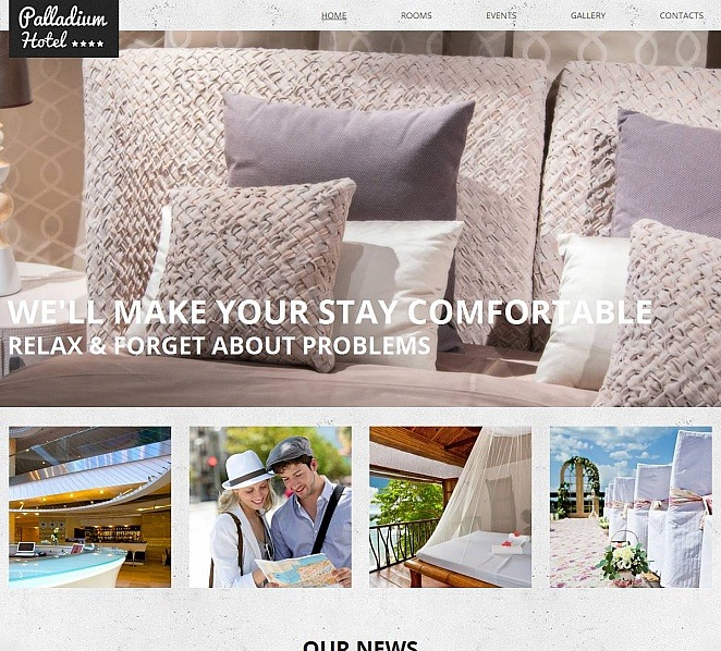 Template Moto CMS HTML para Sites de Hotéis №51709 New Screenshots BIG