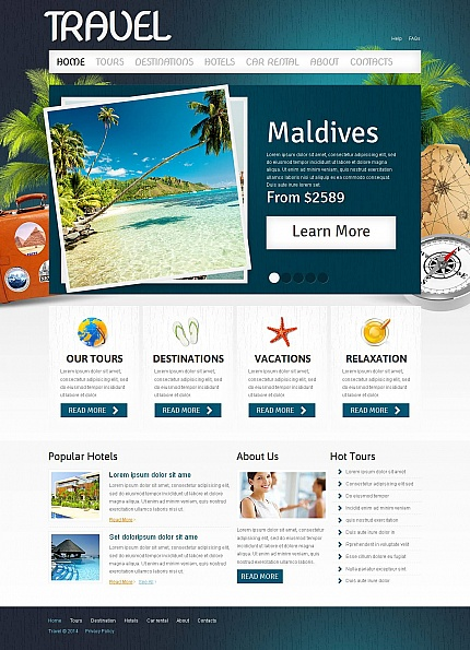 ADOBE Photoshop Template 51710 Home Page Screenshot