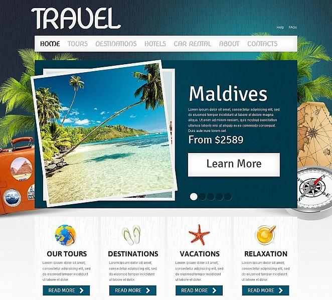 Szablon Moto CMS HTML #51710 na temat: biuro podróży i turystyki New Screenshots BIG