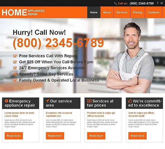 Template Moto CMS HTML para Sites de Remodelação de casa №51712 New Screenshots BIG