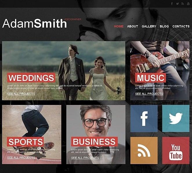 Szablon Moto CMS HTML #51714 na temat: portfolio fotograficzne New Screenshots BIG