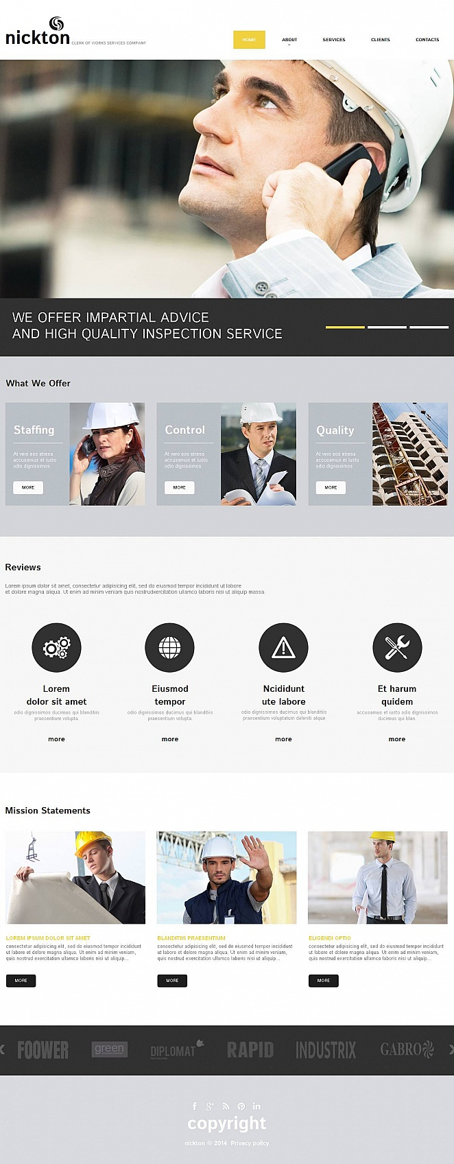 Clerk of Works Website Template for Construction Businesses - image
